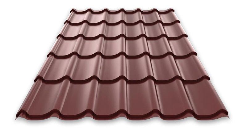Металлочерепица монтерей 8017 шоколад