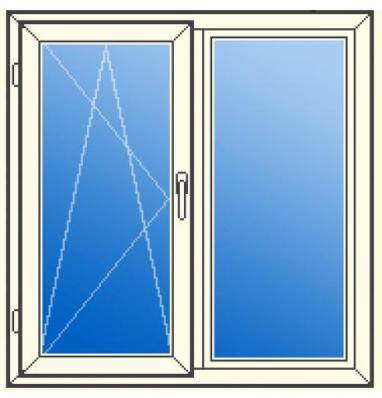 окно ПВХ, поворотно откидное,